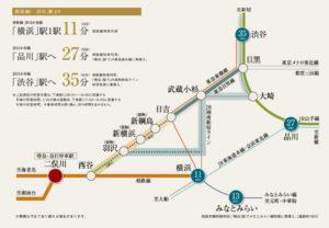 相鉄・東急直通線の開通後は二俣川も「近所」となる(「グレーシアタワー二俣川」のホームページより)