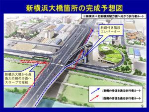 「新横浜大橋」では歩行者用のエレベーターも新設される