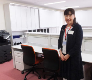 港北医療センター内・訪問看護ステーションと在宅医療相談室の管理者・染谷京子さん。「新しくなった施設で、地域の方のためにがんばりたい」と抱負を語る