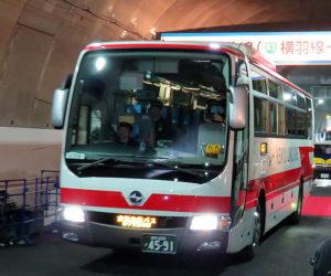 きたせんの開通初日に新横浜出入口から「走り初め」を行う京急バス