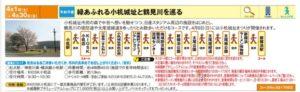 「緑あふれる小机城址と鶴見川を巡る」のコース詳細(パンフレットより)