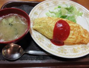 味噌汁も付いてくる「オムライス」(税別600円)