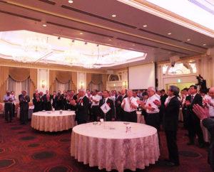 各関連団体の代表や連合自治会・町内会の代表らが一同に会し、半世紀にわたる歴史を振り返りながら50周年を祝った