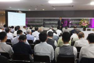 防災の日となる9月1日、奈良建設株式会社で第3回目となる「災害時快適トイレ計画と事業継続計画(BCP)」イベントが開催された。来賓として日本赤十字社神奈川県支部の大野雅之事務局次長があいさつ