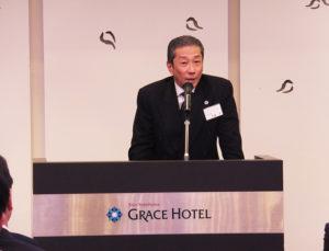"""神奈川県警察本部長の斉藤実さんも「日本型テロ対策の新しい形を産み出し、モデルとなるよう期待したい」と""""オール港北""""の取り組みを激励"""
