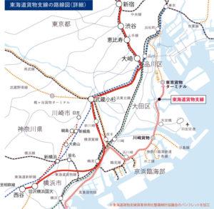 相鉄・JR直通線の詳細ルートイメージ