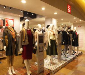 店頭では、ユー・スタイリングらしい色彩・骨格タイプ分析による、12種類の秋の着こなしを新たに提案