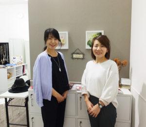 町田へ飛び出し、出張診断も(リンクは町田についての最新ブログ記事)。「多くのご来店をお待ちしています」と松永さん、霧生さん
