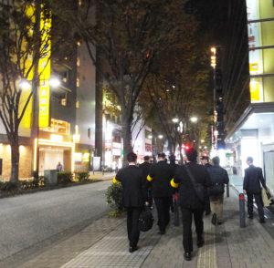 3時間もの時間をかけて、新横浜の街の合同査察を実施した