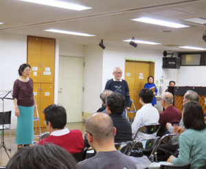 港北区の合唱文化を長く築き上げてきた砂川由利子さん(写真左より)、岡田有弘さん、河野由美子さん、斎藤育雄さん