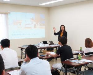 JR横浜線小机駅前の城南信用金庫小机支店で、新横浜支店と共同での第2回「軽減税率対策セミナー」が開催された(2019年7月24日)