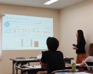 多様なキャッシュレス決済に対応できるAirレジのメリットを株式会社リクルートライフスタイルの島津藍美さんが説明(2019年7月24日)
