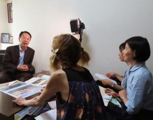 区内在住の三枝(さいぐさ)千春さん、大野玲子さん、三井和美さんの3人がヒヤリングを行った