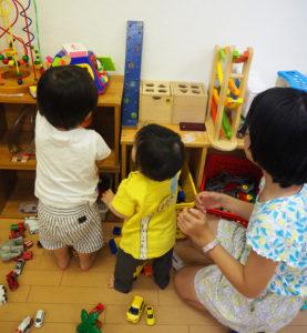 普段つながりを持ちにくい「働く世帯」の子どもたちどうしの新たな交流も生まれていた(9月24日)
