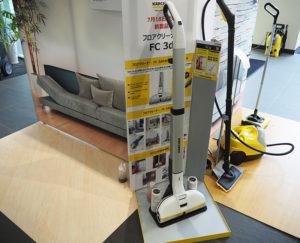 立ったまま水拭き掃除ができる新製品・フロアクリーナー 「FC 3d」なども同センターで試すことができる