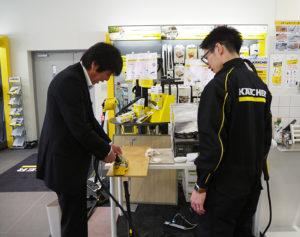 ケルヒャーセンター横浜は、全国の拠点で勤務する社員の教育・研修の場としても活用されている