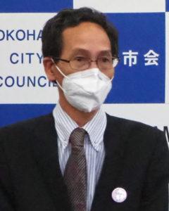 マスクの寄贈を行った株式会社新世紀商事・社長の翁さん