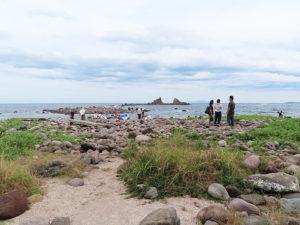 真鶴半島では、名勝・三ツ石海岸の絶景や磯遊びも楽しめる