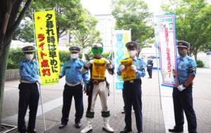 「新型コロナ対策」もあり、ドライバーを対象としてのロードサイドでは実施せず、新横浜駅前東口広場でのキャンペーン実施となった(9月29日)