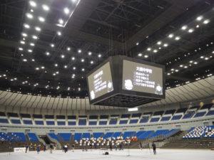 """今月(2020年)10月4日午後に開催された「港北区中学校吹奏楽部交流会」。横浜アリーナが会場提供を行い、区内5校の吹奏楽部の生徒たちの""""思わぬ夢""""が実現した"""