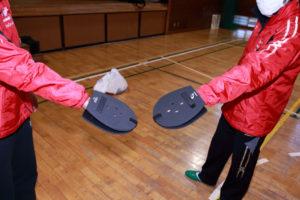 菊名小学校の体育館で「港北区小学校体育研究会」の講習会が行われた