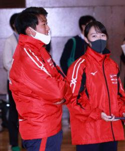 慶應テニス部のリーダーとして参加した丸山さんとマネージャーの一木さん