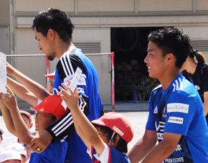 区内小学校ではサッカー教室も開かれていた(2017年6月、日吉台小学校)