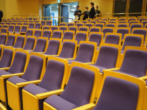 新しくなった椅子。座席数は変わらないとのこと