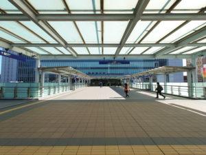 新横浜駅北口(2021年2月、林宏美さん撮影)