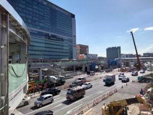 工事が進む新横浜周辺(2021年2月、林宏美さん撮影)