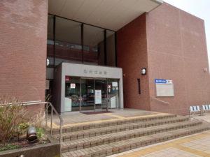港北公会堂の入口(2021年3月、林宏美さん撮影)