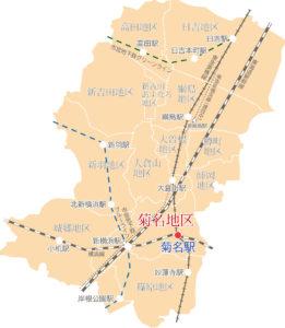 港北区12地区マップ