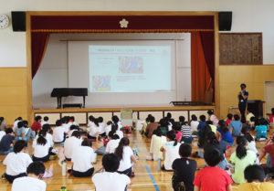 6年生に対し、横浜F・マリノスの担当者が来校しての「出張授業」が行われた