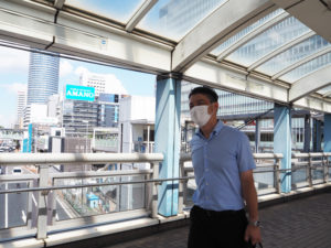 JR新横浜駅側から再びF・マリノス通りへ