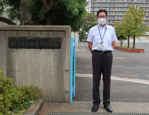 田副校長は「各家庭でも交通事故防止、またコロナ対策に万全を期してもらえたら」と語る