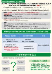 JT横浜第三支店では、市北部にある4区(港北区・都筑区・青葉区・緑区)エリアの事業者や飲食店などの「分煙」相談を受け付けている(同支店提供)